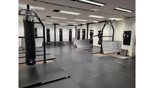 "The process of assembling the hall in the ""Shogun Team"" mixed martial arts club in Switzerland"