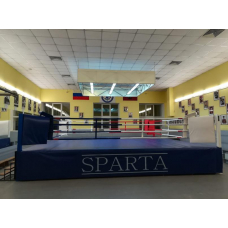 Boxing ring with fighting zone 6,1x6,1m based on a podium 7,8x7,8m, h 1m