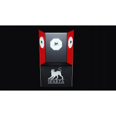 L-shape wall punching pad SPARTA red