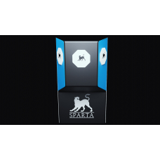 L-shape wall punching pad SPARTA blue