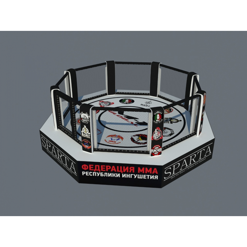 """MMA cage/ring """"transformer"""", diameter 9 m, with ring 6,1 x 6,1 m"""