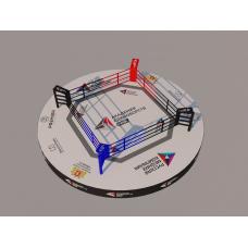 """Арена-Ринг """"Трансформер""""  с круглой боевой зоной диам. 9 м., на круглом подиуме диам. 11 м."""