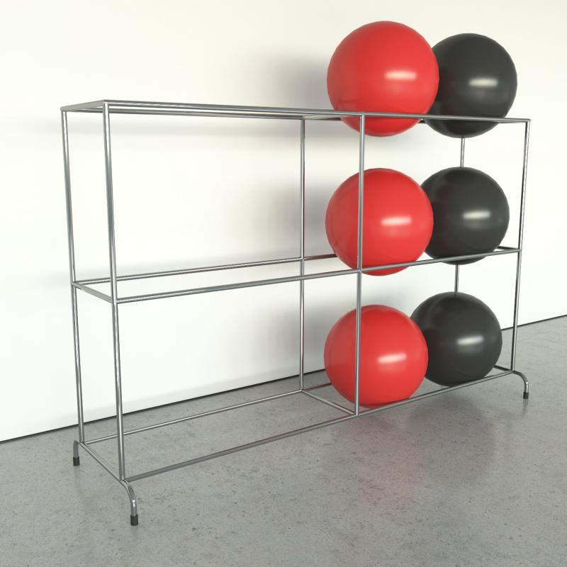 Shelve for gymnastic balls