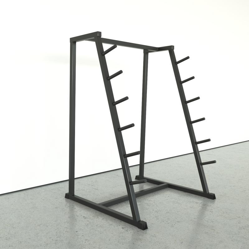 Sloping rack for bars