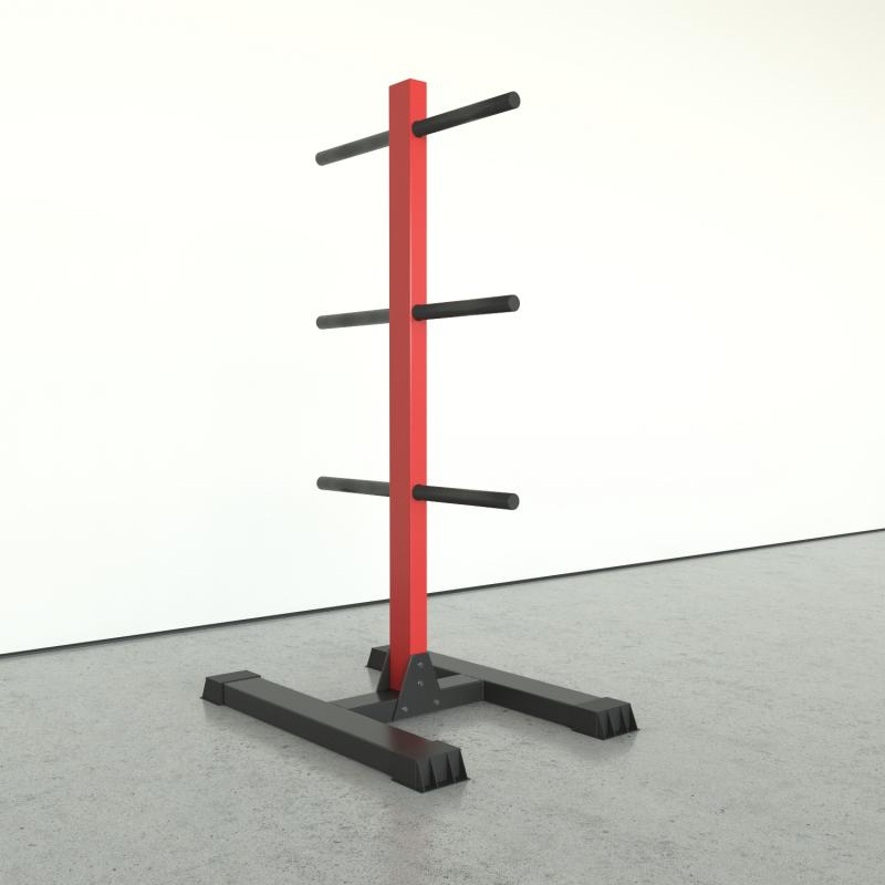 Vertical rack for disk storage
