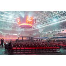 Арена для ММА с круглой боевой зоной диам. 8 м., на подиуме диам. 10 м.