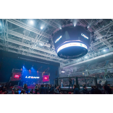 MMA Arena 10m in diameter with circle fighting zone on podium diameter 12m