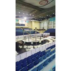 MMA cage (diameter 8 m, on large podium, diameter 10m)