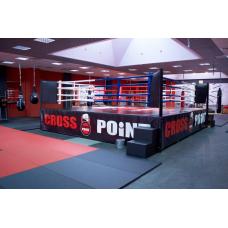 Ринг боксерский с боев. зоной 6 х 6 м., на помосте 7 х 7 м. высотой 1 м.