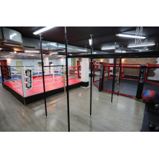 Boxing ring with fighting zone 5x5 m. based on a podium 6x6 m , h 1 m