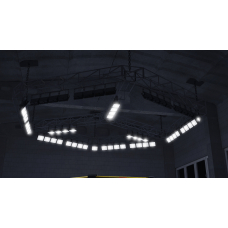 Lighting frames mounted to high-angle constructions 6*6