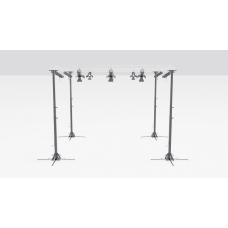 Floor-standing lighting frames 7,2 × 7,2 м.