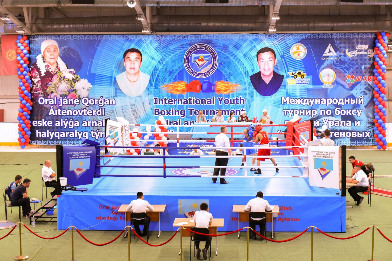 The anniversary international boxing tournament in the ring of the SPARTA company in Kazakhstan, Kostanay